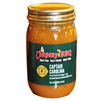 Company 7 BBQ's award winning 'Captain Carolina' BBQ Sauce