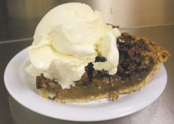 JD's Famous Custard and our homemade pecan pie!