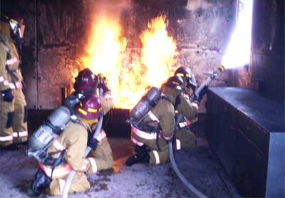 Fire Training at Goodfellow Air Force Base