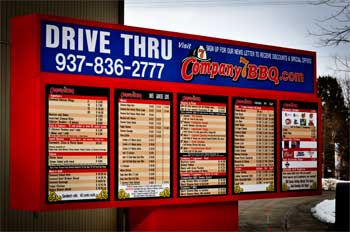 Company 7 BBQ Drive Through Service